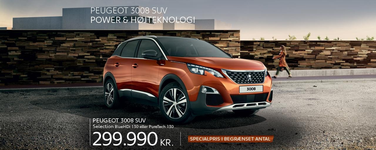 Peugeot 3008 SUV Selection - Power og højteknologi