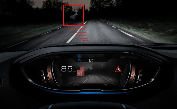 Peugeot 3008 SUV night vision