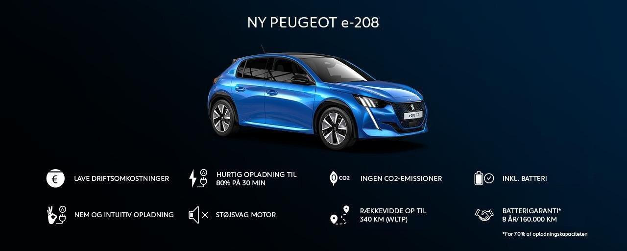 Ny Peugeot 208 - Fordele ved Peugeot e-208