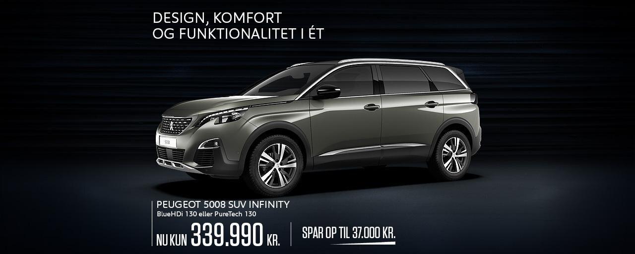 Peugeot 5008 SUV Infinity - Rå SUV til den store familie