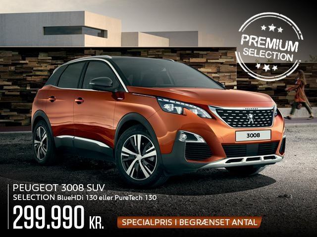 Peugeot 3008 SUV Selection - Power og højteknologi